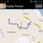 Screenshot of a recorded route